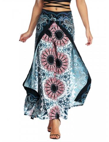 Boho Inregular Tribal Printed Loose Yoga Pants
