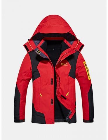 Plus Size 2 in 1 Jackets Climbing Breatahble Detachable Hood Jackets for Men