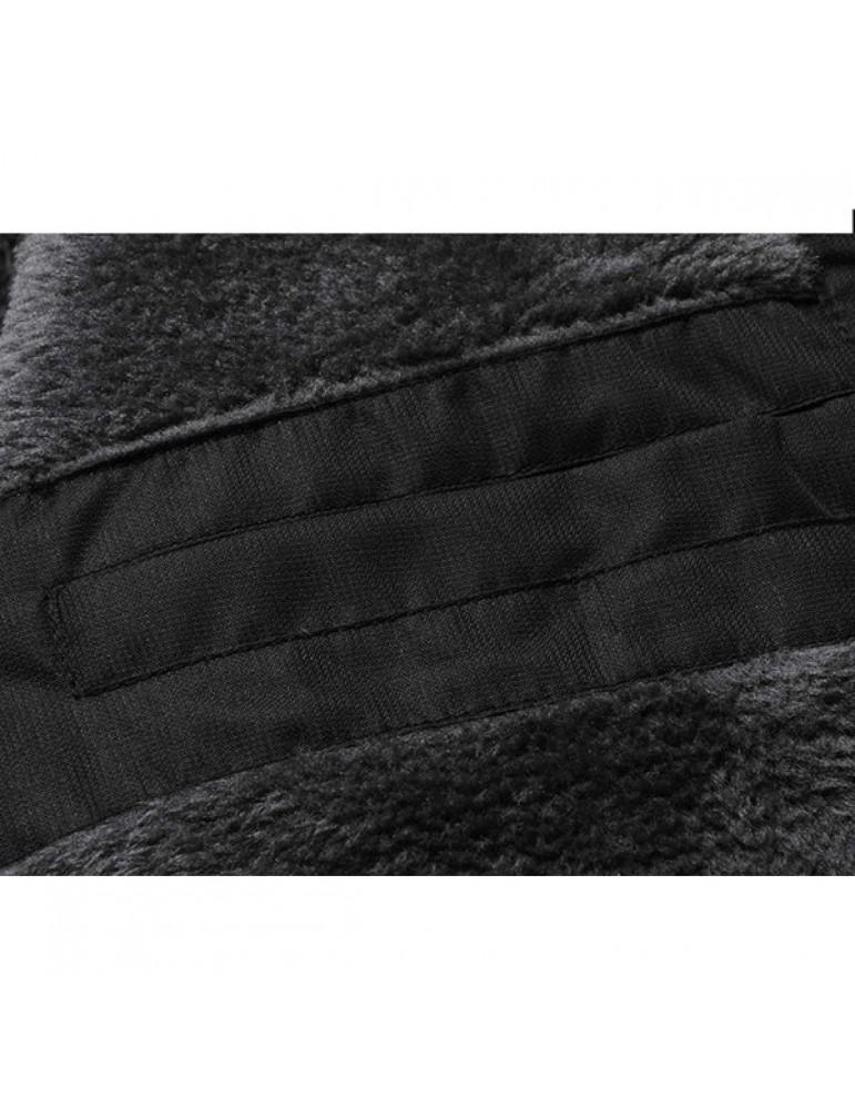Winter Thicken Warm Outdoor Water Repellent Windproof Detachable Hood Jackets for Men