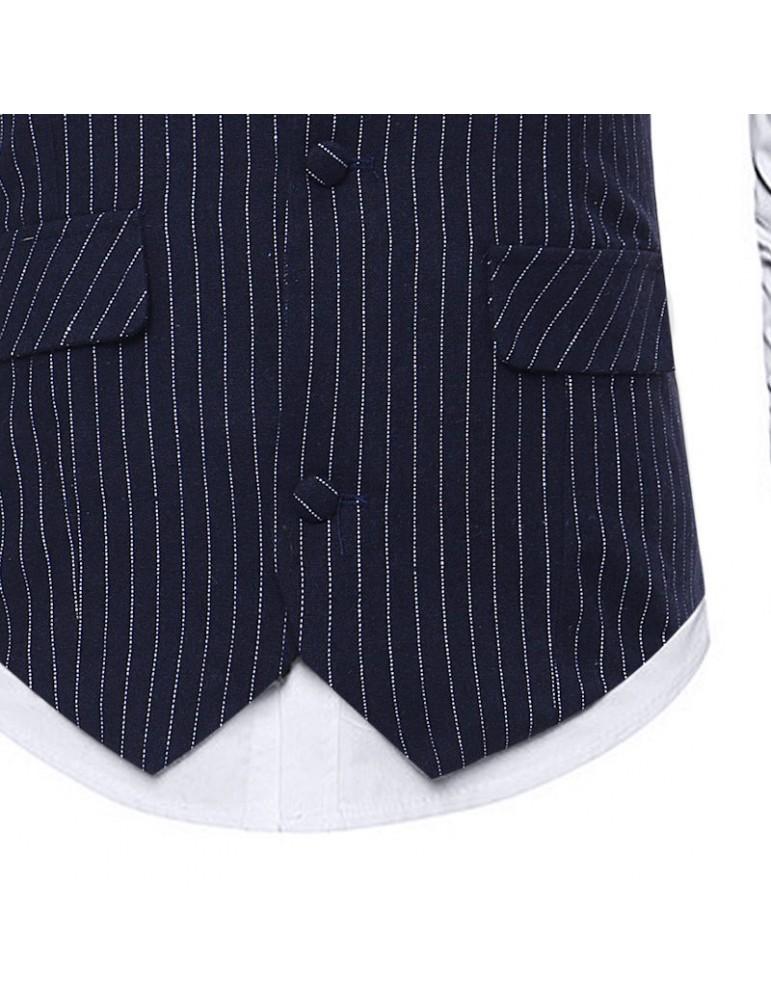 Business Formal Stripes Slim Vest for Men