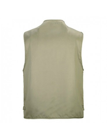 Cotton Multi Pockets Loose Fishing Outdoor Vest for Men