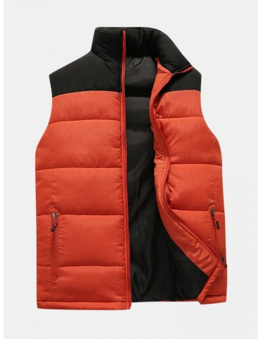 Men Sleeveless Jacket Winter Warm Slim Windproof  Waistcoat Down Vest