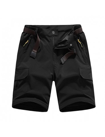 Mens Breathable Water-repellent Detachable Riding Shorts Outdoor Sport Pants