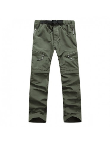 Mens Outdoor Detachable Pants Quick Dry Sport Outdoor Nylon Shorts Hiking Trouser