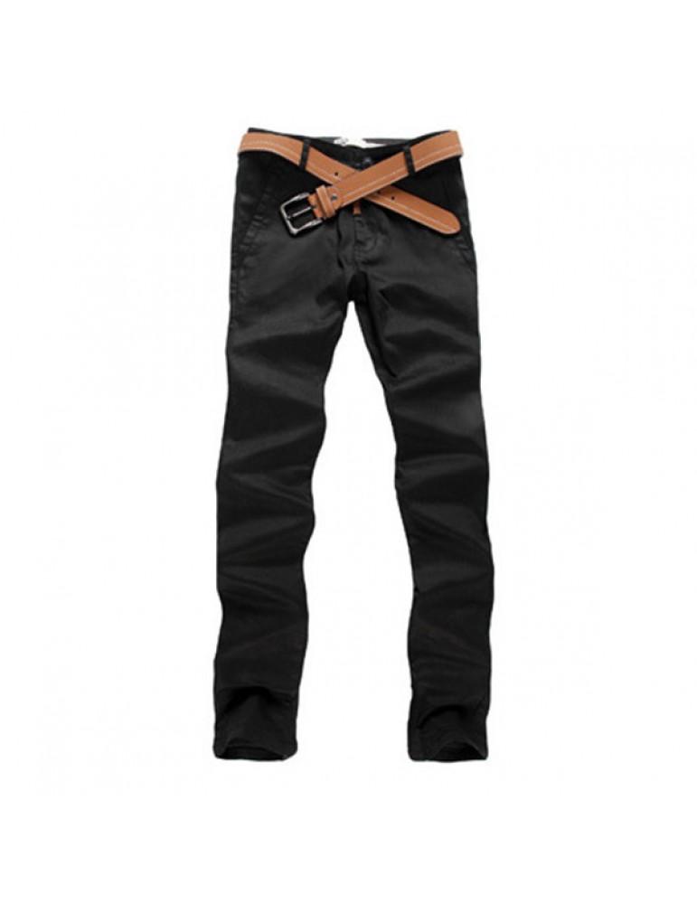 Mens Fashion Elastic Tight Pants Casual Slim Fit pencil Cotton Pants 10 Colors