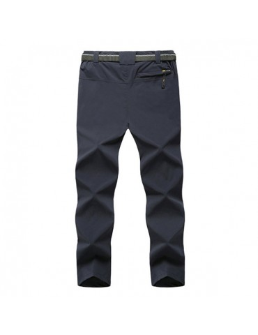 Men's Traveling Outdoor Spring Summer Thin Pants Elastic Waist Soft Shell Quick-Dry Trouser