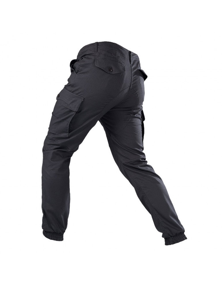 Mens Military Tactical Pants Wear-resistant Multi Pocket Solid Color Casual Cargo Pants