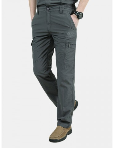 Mens Outdoor Casual Quick Dry Breathable Multi-pocket Military Cargo Pants