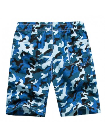 Hawaiian Style Tropical Camouflage Printing Loose Beach Board Shorts for Men