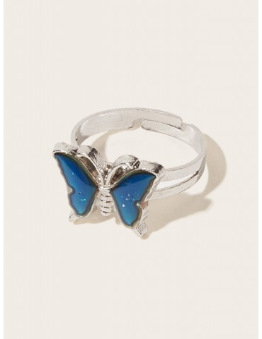 Butterfly Design Thermochromic Ring