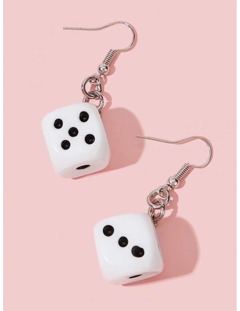 Dice Dangle Earrings 1pair