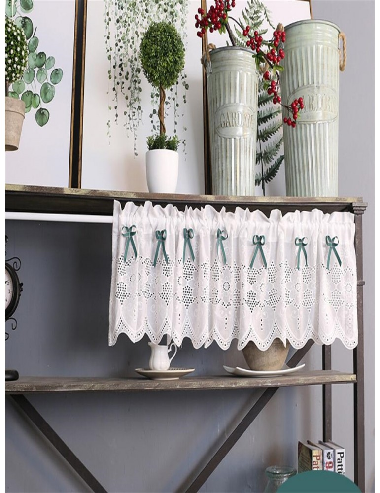 1 Pc Door Curtain Sweet Style Bow Decor Door Curtain Cabinet Curtain