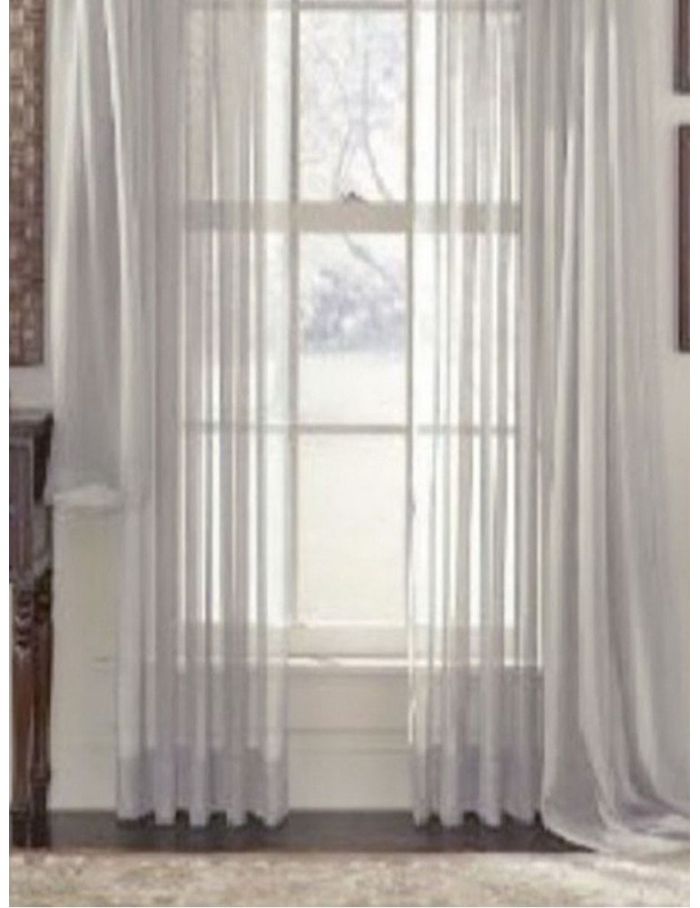 Organdy Curtain Solid Color Simple Style Shading Curtain